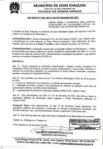 PREFEITURA DE DOM JOAQUIM INFORMA: