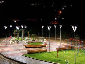 Retomados os serviços de implantação de iluminação pública a Led.