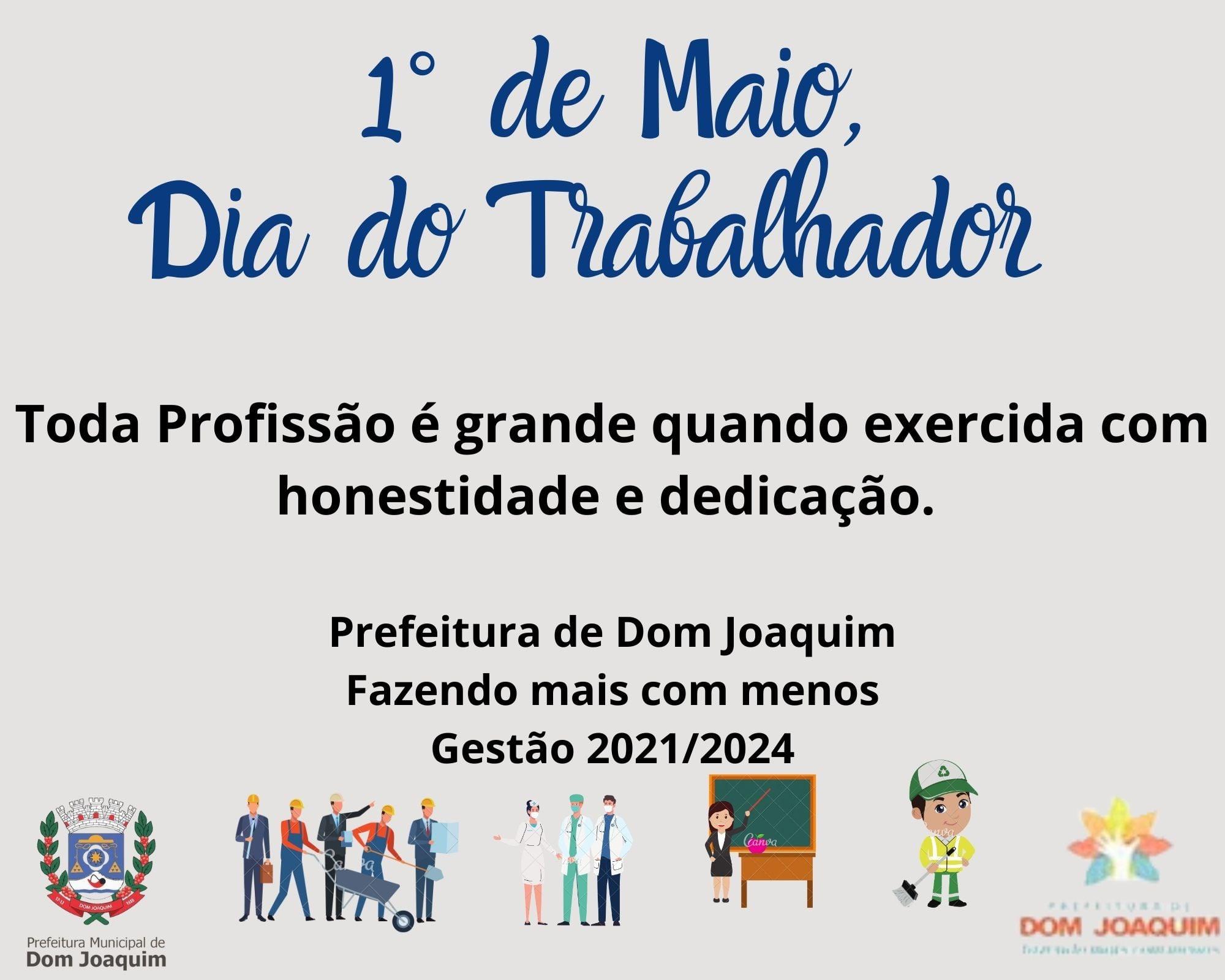 1° DE MAIO – DIA DO TRABALHADOR