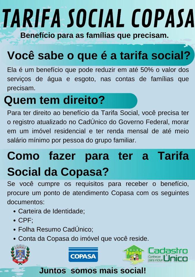 A Prefeitura de Dom Joaquim, através da Secretaria de Assistência Social, informa: