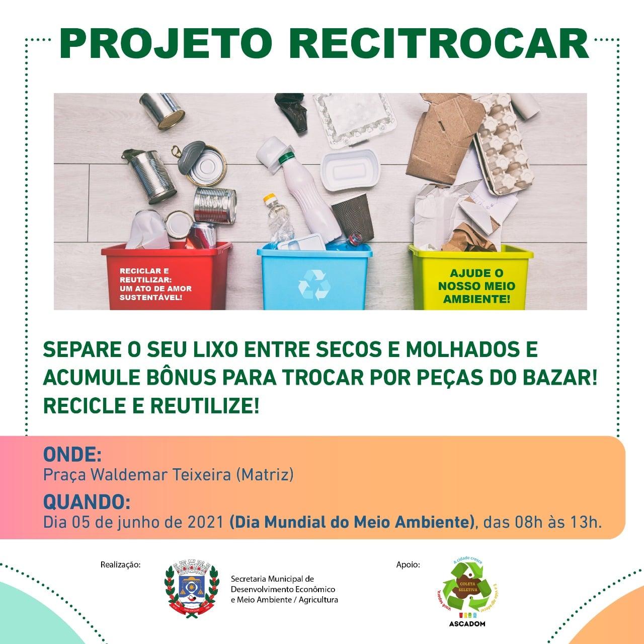 Vem aí a primeira Edição do Projeto RECITROCAR!