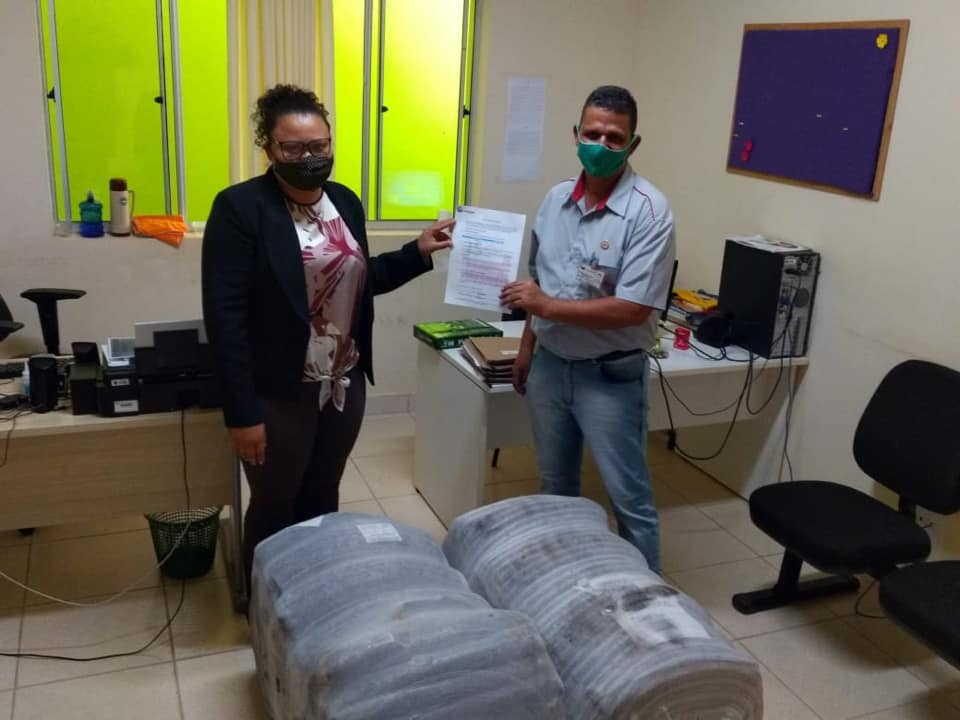 A Prefeitura Municipal de Dom Joaquim, agradece a Viação Serro pelas doações de cobertores e parceria.