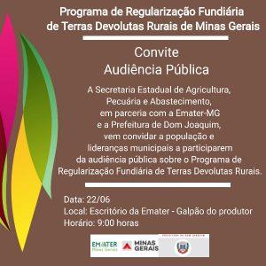 Prefeitura de Dom Joaquim convida: