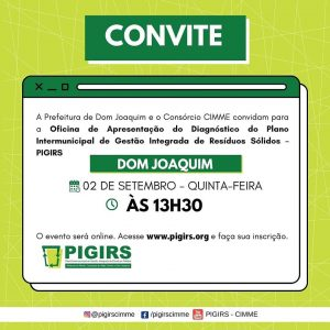 OFICINA DE APRESENTAÇÃO DO DIAGNÓSTICO DE RESÍDUOS DE DOM JOAQUIM