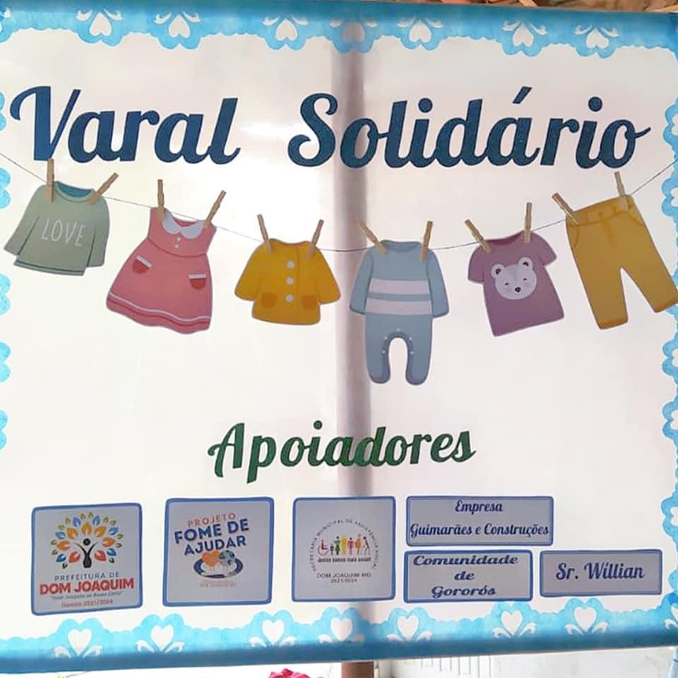 A Prefeitura de Dom Joaquim recebeu através da Secretaria Municipal de Assistência Social, doações a serem distribuídas para famílias em situação de vulnerabilidade social.